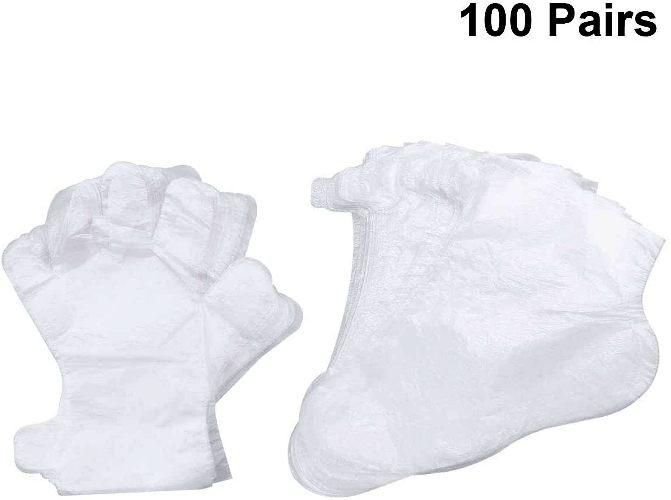 guantes y cubre pies baño de parafina