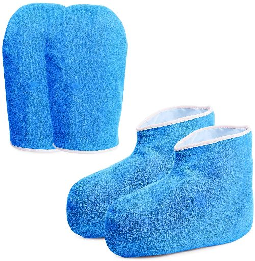 Noverlife botines y guantes de rizo