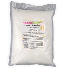 TrendLight 890018 1 kg de Cera de parafina blanca Pura para Hacer Velas