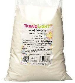 TrendLight 890018-2 2kg Cera de parafina Pura para Hacer Velas de Color Blanco