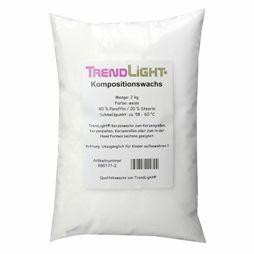 TrendLight 890171-2 2kg de Cera para Hacer Velas 80% parafina y 20% estearina